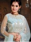 Light Blue Net Mehndi Lehenga Choli - 1