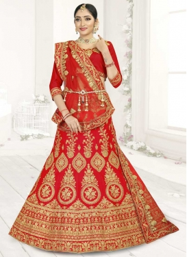 Booti Work A - Line Lehenga For Festival