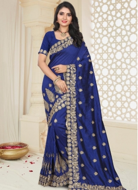 Booti Work Art Silk Classic Saree