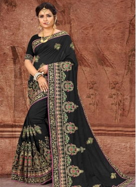 Booti Work Art Silk Designer Contemporary Saree