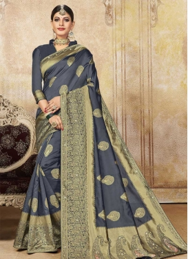 Booti Work Contemporary Style Saree For Casual
