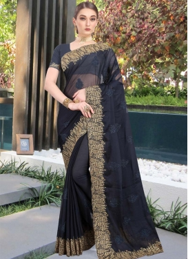 Booti Work Designer Contemporary Style Saree