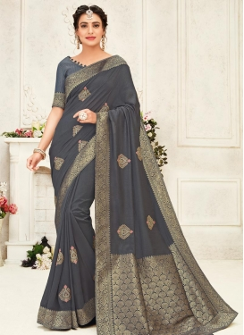 Booti Work Designer Traditional Saree