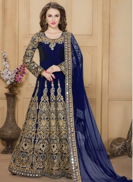 Booti Work Floor Length Anarkali Suit