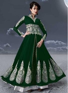 Booti Work Floor Length Designer Salwar Suit