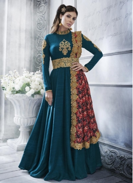 Booti Work Long Length Designer Anarkali Suit