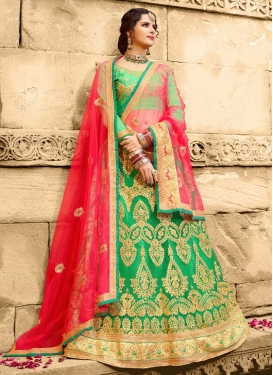 Booti Work Net Trendy Lehenga