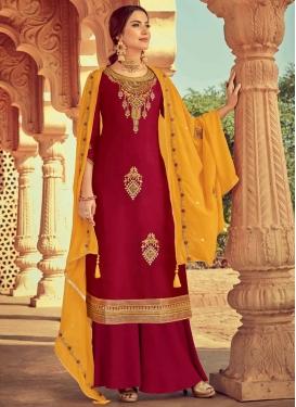 Booti Work Palazzo Style Pakistani Salwar Suit