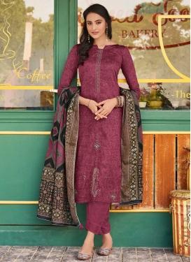 Booti Work Pant Style Pakistani Suit