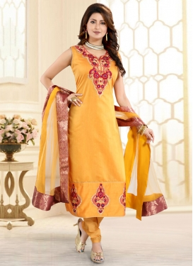 Booti Work Readymade Churidar Salwar Suit