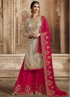 Booti Work Sharara Salwar Suit