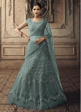 Booti Work Trendy A Line Lehenga Choli For Bridal