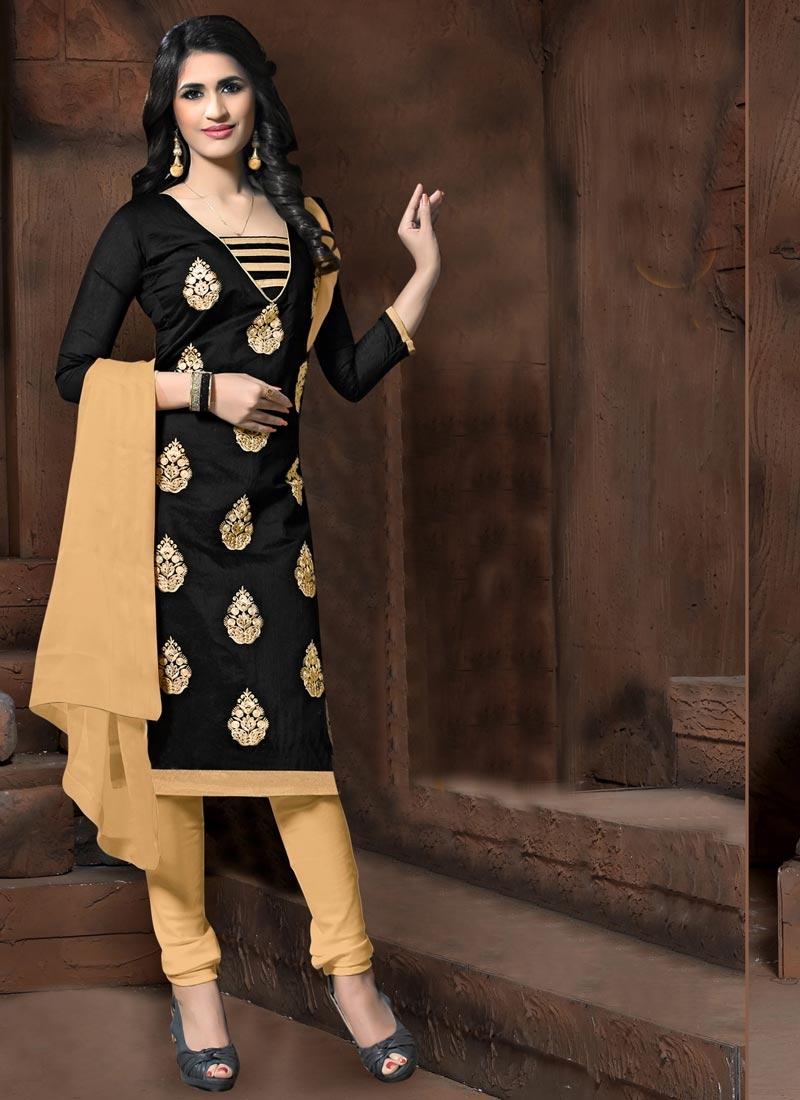 Booti Work Trendy Churidar Salwar Kameez