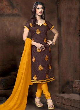 Booti Work Trendy Churidar Salwar Kameez