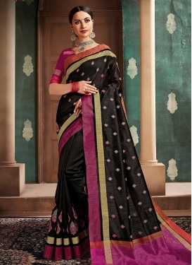 Booti Work Trendy Classic Saree For Casual