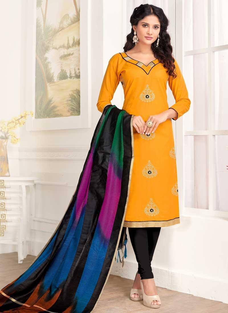 Booti Work Trendy Straight Salwar Kameez