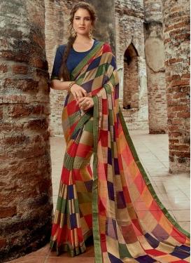 Brasso Designer Contemporary Style Saree For Ceremonial