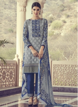 Brasso Georgette Pant Style Salwar Suit For Ceremonial