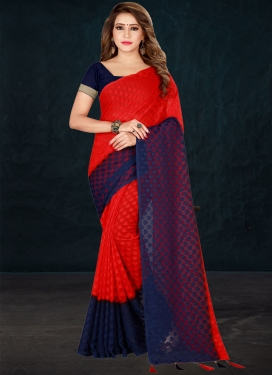 Brasso Woven Work Designer Contemporary Style Saree