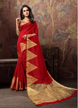 Breathtaking Cotton Silk Traditional Designer Saree