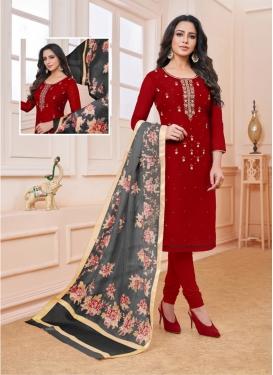 Breathtaking Silk Party Churidar Salwar Suit
