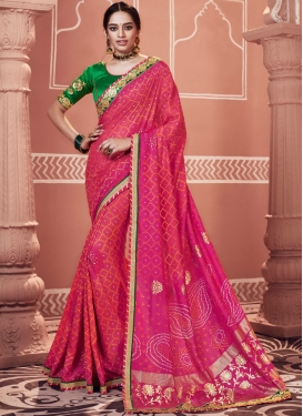 Brilliant Patch Border Ceremonial Classic Saree