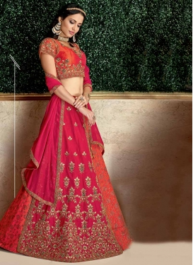 Brocade Layered Designer Lehenga Choli For Festival