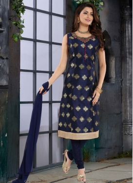 Brocade Readymade Churidar Salwar Kameez