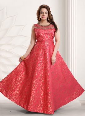 Brocade Readymade Classic Gown For Party