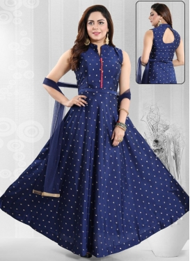 Brocade Readymade Long Length Gown For Ceremonial