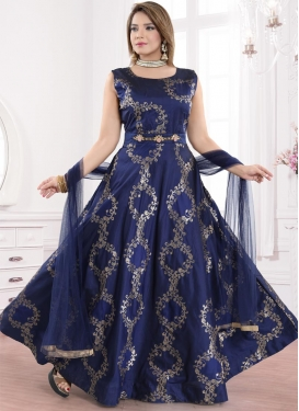 Brocade Readymade Long Length Gown For Festival