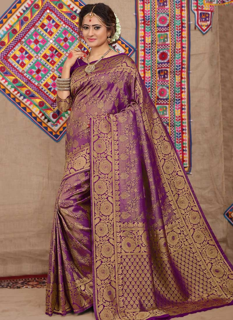 Brocade Thread Work Trendy Classic Saree
