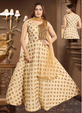 Brocade Woven Work Readymade Classic Gown