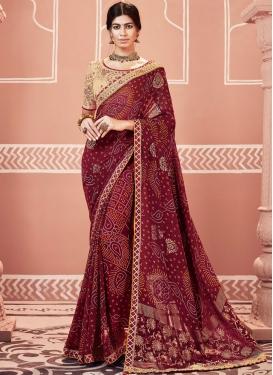 Captivating Faux Georgette Ceremonial Classic Designer Saree