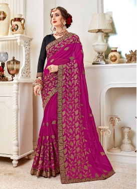Captivating Faux Georgette Festival Trendy Saree