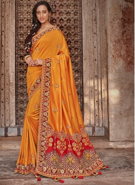 Catchy Art Silk Patch Border Designer Traditional Saree