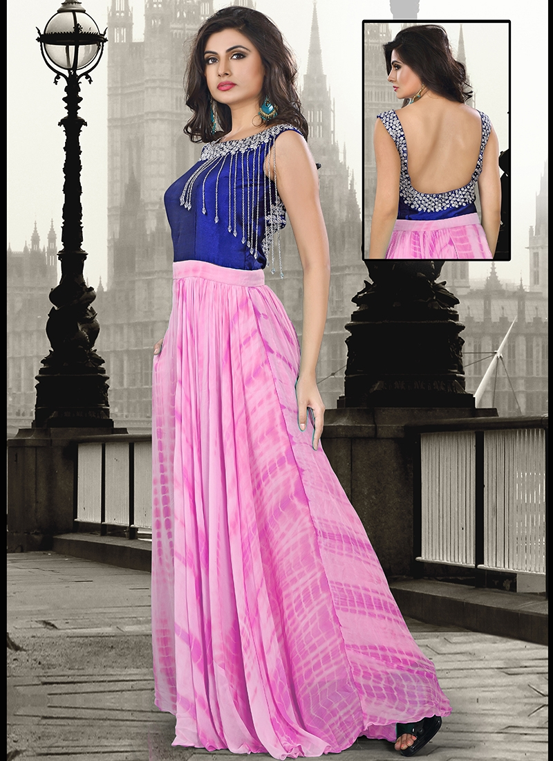 Catchy Stone Work Party Wear Readymade Gown