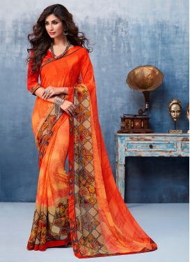 Celestial Abstract Print Casual Printed Saree