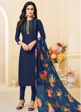 Chanderi Cotton Churidar Salwar Kameez