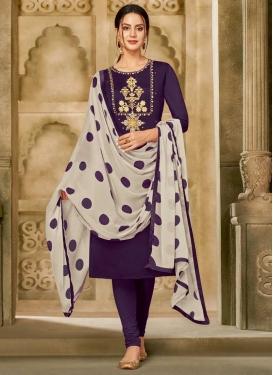 Chanderi Cotton Churidar Salwar Kameez For Casual
