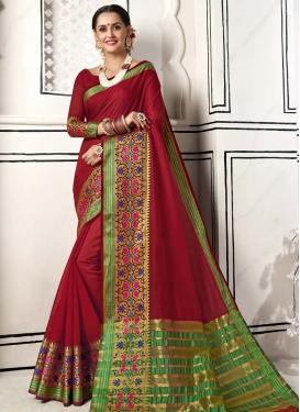 Chanderi Cotton Designer Contemporary Saree For Casual