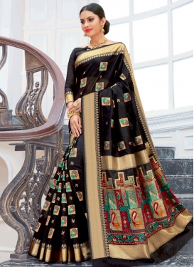 Chanderi Cotton Designer Contemporary Saree For Ceremonial