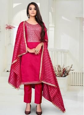 Chanderi Cotton Pant Style Designer Salwar Kameez