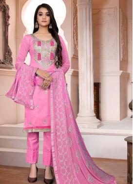 Chanderi Cotton Pant Style Designer Salwar Suit