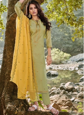 Chanderi Cotton Pant Style Pakistani Salwar Suit