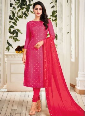 Chanderi Cotton Trendy Churidar Salwar Kameez