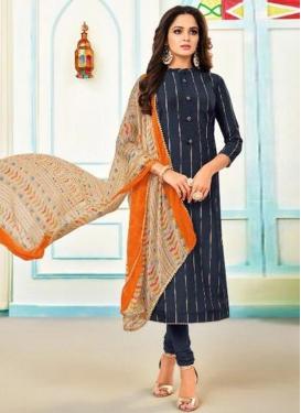 Chanderi Cotton Trendy Churidar Salwar Suit For Casual