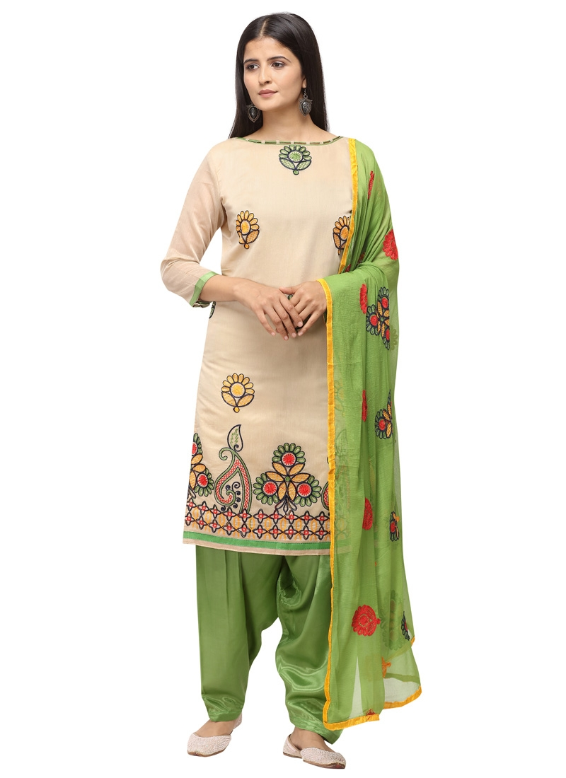 Chanderi Cotton Trendy Salwar Kameez