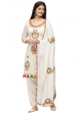 Chanderi Cotton Trendy Straight Salwar Kameez