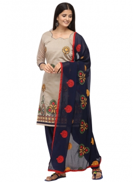 Chanderi Cotton Trendy Straight Salwar Kameez For Casual
